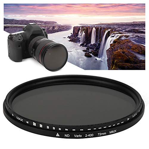 Filtre d'Objectif ND 72 mm, ND2-400 Réglable, Filtre d'Objectif d'Appareil Photo - pour Objectifs d'Appareil Photo Canon/Nikon/Sony/Pentax/Olympus/Fuji