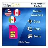 Carta SIM Prepagata per USA, Canada e Messico - 3 GB di Internet in 4G/LTE, Chiamate e Messaggi internazionali - (15 Giorni)