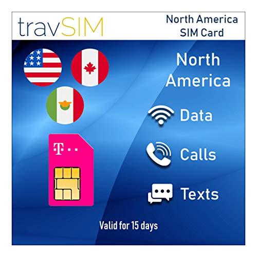 Prepaid-SIM-Karte Für USA, Kanada & Mexiko – 50 GB USA - 5 GB Kanada & Mexiko Mobile Daten – Nationale Anrufe & Nachrichten 15 Tage Lang
