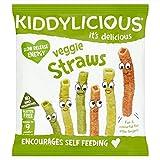 Kiddylicious Veggie Strohhalme 12G - Packung mit 4 -