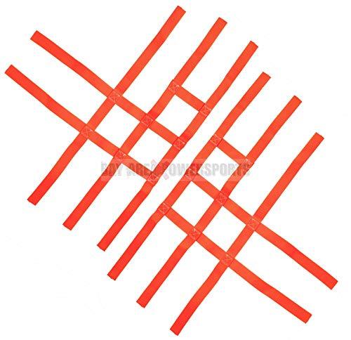Nerf Bar Nets for Tusk Alba 757 Titan Fits Honda Yamaha Suzuki Kawasaki Orange