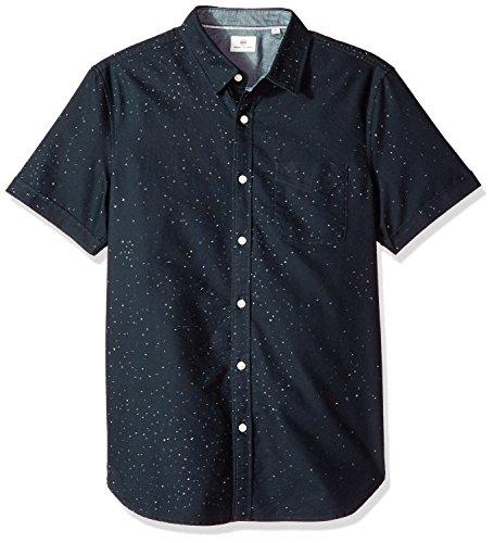 AG 아드리아노 골드슈미드 남성 피어슨 반소매 프린트 버튼 다운 셔츠