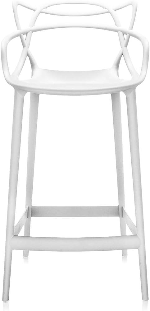 Kartell masters stool, sgabello in polipropilene modificato colorato in massa e trattamento effetto soft touch 5869/03