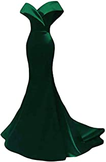 Women's Off The Shoulder Mermaid Prom Dress Long Evening Dress