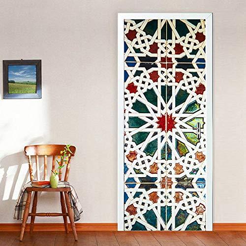 Wallflexi - Adhesivo decorativo para puerta (200 x 88 x 0,03 cm), diseño de puerta