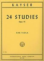 Kayser, Heinrich Ernst - 24 Studies, Op. 55 - Viola - International Music Co.