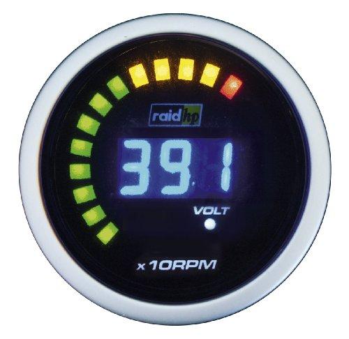 Raid HP 660512 Diesel toerentalmeter, extra instrument Night Flight Digital Blue