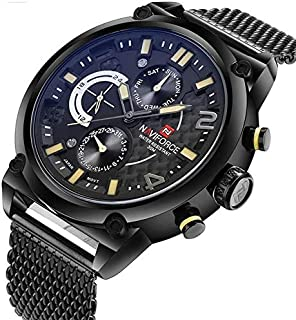 Naviforce Sport Watch For Men Analog Stainless Steel - 9068