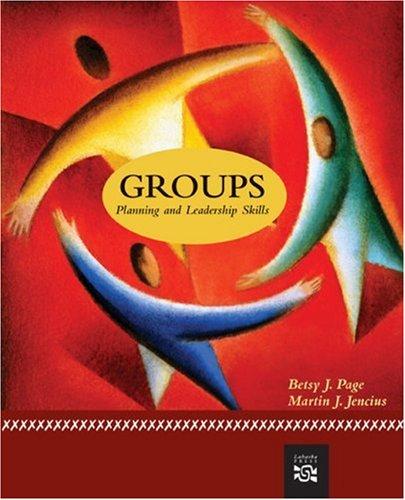 Groups: Planning And Leadership Skills