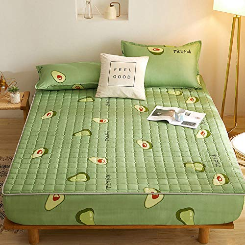 HPPSLT Unterbett Soft-Matratzen-Topper, Matratzenschutz Boxspring-Betten geeignet Wasserdichtes verdicktes Bettlaken einteilig - 12_180 cm x 220 cm