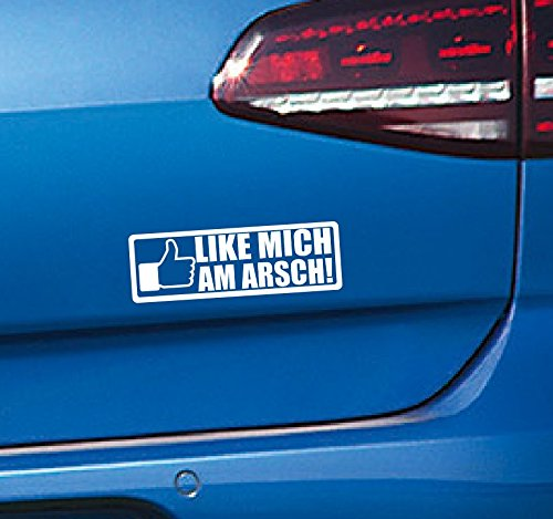 Dinger-Design Like Mich am Arsch Auto Aufkleber JDM Tuning OEM Decal Stickerbomb Bombing 14x4,5cm