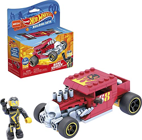 Mega Construx Hot Wheels Bone Shaker Construction Set, Building Toys for Kids 5 Years and Up