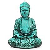 Buda Hindu Tibetano Estátua de Resina Esotérica Chakra (Turquesa)