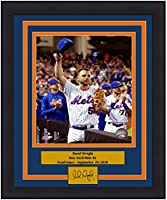 """Mets David Wright Final Game 8"""" x 10"""" Framed and Matted Baseball Photo with Engraved Autograph"""