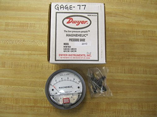 Dwyer 2010 Magnehelic Differential Pressure Gauge, Type, 0 to 10