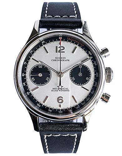 SUPAN001SN Seagull ST1901 Uhrwerk Saphir-Kristall Herren Panda Chronograph Uhr 1963
