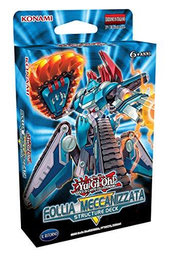 YU-GI-OH!- Trading Card Game Structure Deck Follia Meccanizzata, Colore Azzurro, MECHANIZED MAD