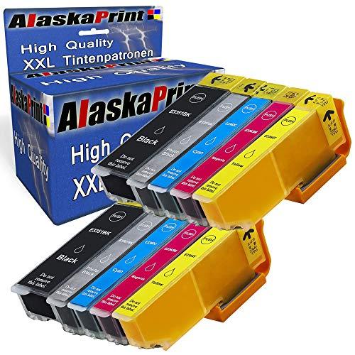 Alaska Druckerpatronen Kompatibel für Epson 33XL 33 XL Multipack für Epson Expression Premium XP-530 XP-540 XP-630 XP-635 XP-640 XP-645 XP-830 XP-900 XP-7100 Patronen Tintenpatronen 10er Set