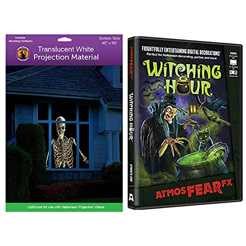 Kringle Bros AtmosFearFX Witching Hour Halloween DVD and Reaper Brothers High Resolution Window Projection Screen