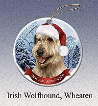 Cheyan Unique Design Wheaten Irish Wolfhound Porcelain Hanging Ornament