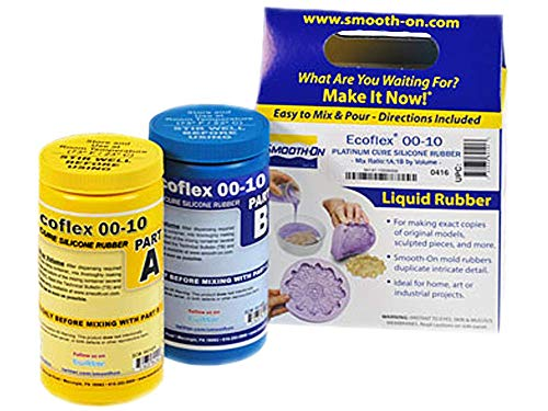 Smooth-On ECOFLEX 00-10 Platinum Cure Silicone Rubber Compound 2 Pint Kit 2 LBS