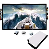 NYWENY Projector screen 50 inches 16:9 HD wall-mounted foldable home theater screen outdoor indoor meeting portable Anti-Crease, Double Sided projection screen movie/office meeting