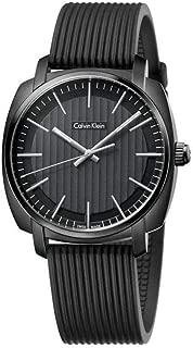 Calvin Klein Men's Quartz Watch, Analog Display and Rubber Strap K5M314D1