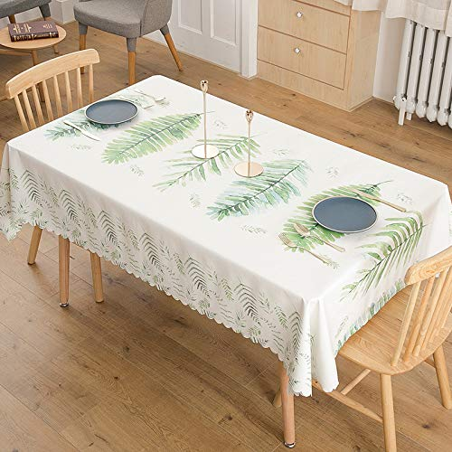 WSJIABIN Tablecloth Small Cloth Fresh Rectangular Chair Cover Elastic Reusable Tablecloth for Indoor and Outdoor Use (135 x 170 cm)
