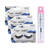 BEPHOLAN 3 Pairs False Eyelashes Synthetic Fiber Materia & Professional Eyelash Glue