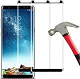 [2 Pack] Galaxy Note 8 Screen Protector, Keklle Full Coverage Anti-Scratch Anti-Fingerprint Case Friendly 3D Touch Tempered Glass Film Suitable for Samsung Note 8