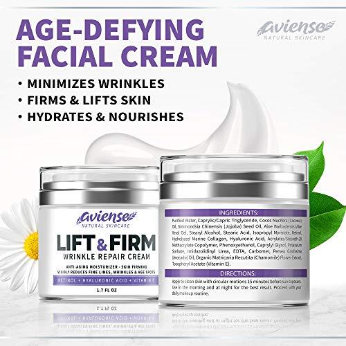 51NrC9oRcyL - Anti Wrinkle Cream for Face - Retinol & Collagen Anti Aging Cream - Made in USA - Fine Lines & Wrinkle Repair - Retinol Cream for Face with Hyaluronic Acid & Vitamin E - Face Moisturizer for Women & Men