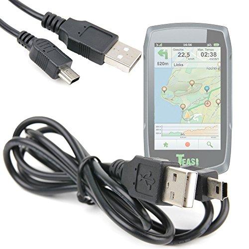 DURAGADGET Câble Mini USB de synchronisation pour Teasi One   One2   One3   Pro   Pro Pulse   Volt GPS de randonnée pédestre ou Cycliste + Transfert de données