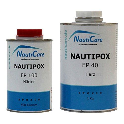 NautiCare UV Gießharz Glasklar | 1,5 kg | Set mit Epoxidharz und Härter - NautiPox
