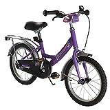 Ultrasport Kinderfahrrad 16 Zoll, lilafarbenes Fahrrad für Mädchen ab 4,5 Jahre (ca. 100 cm Körpergröße), ein 16 Zoll Kinderrad mit Rücktrittbremse