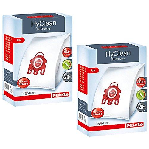 Miele Lot de 2 boîtes de sacs d'aspirateur FJM Hyclean 3D Efficiency pour aspirateur Compact S700 S4000 et S6000