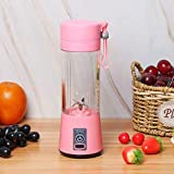 Prakal Portable Glass Smoothie Mini Electric Protein Shaker Bottle, Travel Personal Blender for Shakes and Smoothies for Gym and Healthy Lifestyle (400mls, Multicolour)