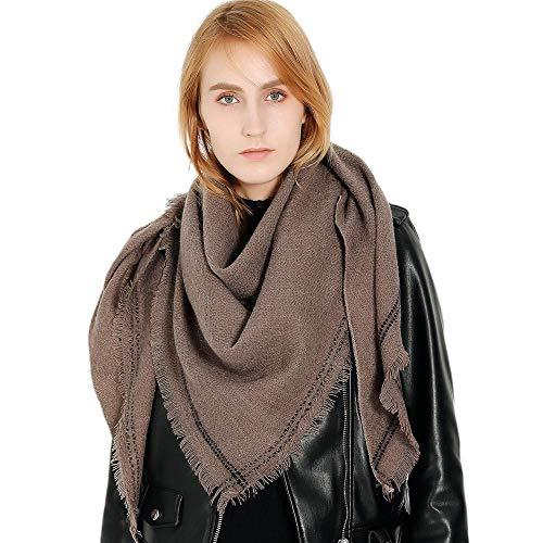 Dames sjaal slabbetje herfst en winter effen kleur imitatie kasjmier driehoek sjaal sjaals warm wild