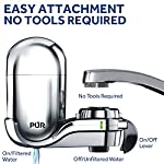 PUR FM-3700 Advanced Faucet Water Filter, Chrome 9 Advanced Faucet Filtration System: Featuring Sinple One Click Tool Free Attachment, There's Never Been an Easier or More Reliable Way to Get Healthier, Cleaner, Great Tasting Water Straight From Your Faucet Faucet Water Filter; PUR faucet filters provide 100 gallons of filtered water, or 2 3 months of typical use, before you need a replacement. Only PUR faucet filters are certified to reduce contaminants in PUR faucet filter systems WHY FILTER WATER? Home tap water may look clean, but may contain potentially harmful pollutants & contaminants picked up on its journey through old pipes. PUR water filters, faucet filtration systems & water filter pitchers reduce these contaminants