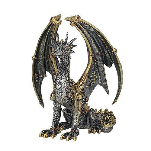 IM Deko Figur Drache Steampunk Halloween Gothic Dekoration Drachenfigur Fantasy Dragon Art