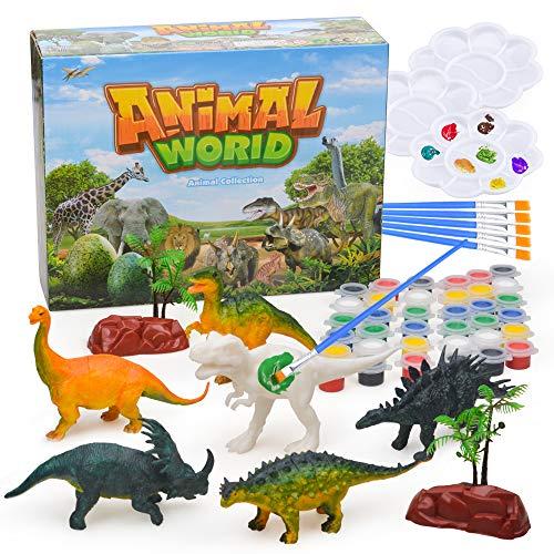 Wiwi Geschenk für 3-10 jährige Jungen Kinder, 3D-Malerei Dinosaurier für Jungen Spielzeug Alter 4 5 6 7 8 9für 3D-Dinosaurier Malerei Geburtstag für Mädchen Bastelspielzeug für 4-8 Jahre alte Jungen