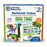 Learning Resources MathLink Cubes Kindergarten Math Activity Set: Dino Time! Educational Counting Toy, Math Cubes, Linking Cubes, Early Math Skills, Set of 115 Pieces, STEM toys, Ages 5+