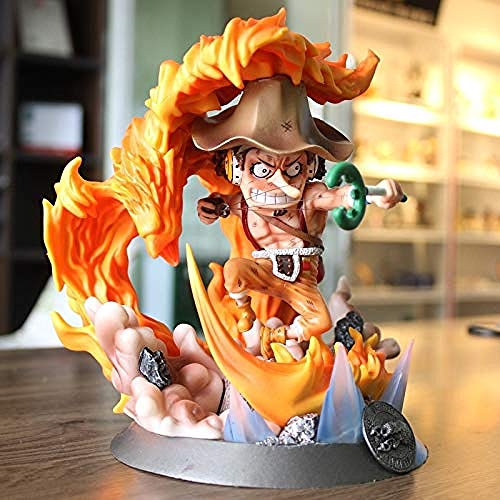 UanPlee-SC Geschenk Action-Figuren One Piece Luffy Fire Phoenix Spielzeug Anime One Piece Luffy Sanji Figur Diorama Spielzeug