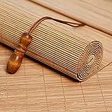 JIAJUTUI001 Estor Enrollable de Bambú Natural Persianas Enrollables con Filtro de Luz para Patio, Cocina, Puertas, Porche, Cortina Decorativa 70% Sombreado Persianas Romanas (90 * 100cm/36 * 39in)