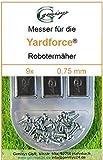 9 Ersatz-Messer Qualitäts-Klingen 0,75mm Yardforce SC 600 Eco SC600-Eco SA 900 SA900 SA 600 H SA600H
