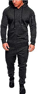 Men's Tracksuits Camo Casual Fashion Sweatsuits Hoodie Sports Suit Athletic Comfy Sets Jogging 2 Piece