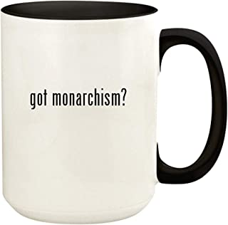got monarchism? - 15oz Ceramic Colored Handle and Inside Coffee Mug Cup, Black