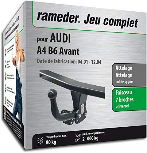 Rameder Pack, attelage démontable avec Outil + Faisceau 7 Broches Compatible avec Audi A4 B6 Avant (128615-04797-8-FR).