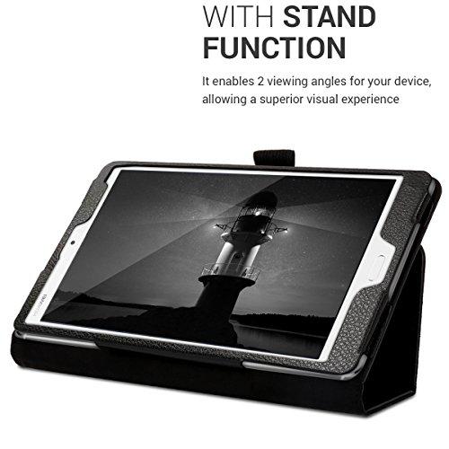 kwmobile Hülle kompatibel mit Huawei MediaPad M3 8.4 - Slim Tablet Cover Case Schutzhülle mit Ständer Schwarz - 5