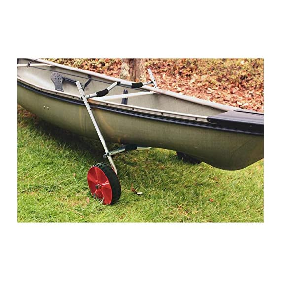 """Onefeng Sports Airless End Kayak Cart, Canoe Carrier Trolley Adjustable Kayak Trolley Suit for Extra Large 24inch Width… 7 ►【Suit for Extra Large Kayak】 Kayak cart is suitable for kayaks up to 24 inches wide.The height of kayak cart can be adjusted from 9.8"""" to 17.7"""", and each gear can be adjusted to 2"""".The width of our canoe cart can be adjusted from 20"""" to 24"""".So whatever your. So no matter what size you are, you can adjust your kayak cart. ►【Capacity】 Generous 150lb carrying capacity allows you to easily transport your kayak / canoe;solid aluminium frame,and rubber protectors on each arm to protect your canoe / kayak hull; Rubber bumpers of the foot protect the frame from wearing. ►【New Plastic Wheels】 Wheels are environment-friendly,odourless tasteless.Size:25×7cm(9.8""""×2.7"""") plastic tires with rubber sheaths.Spring button, easy assembly."""