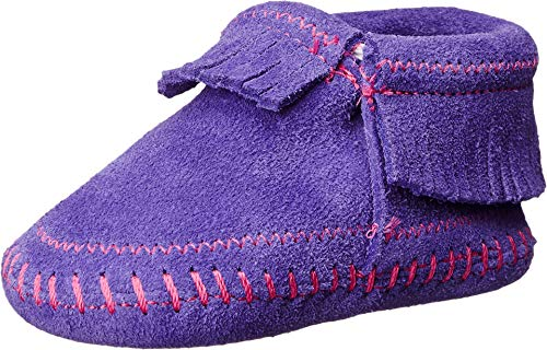 Minnetonka Riley Bootie, Mocassin Bébé Fille, Purple, 22 EU